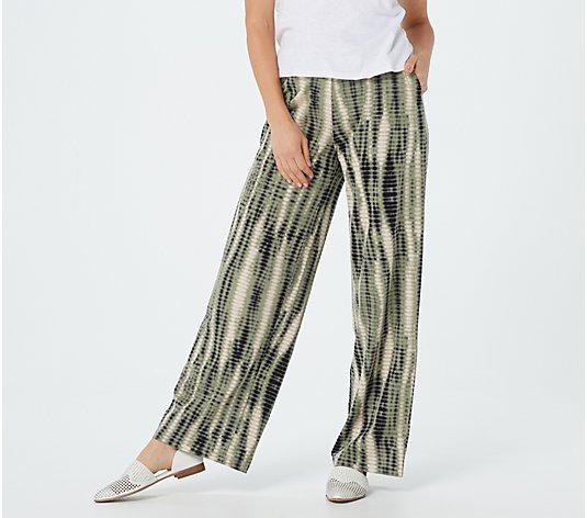 Denim & Co. Tall Beach Pull-On Wide-Leg Pants
