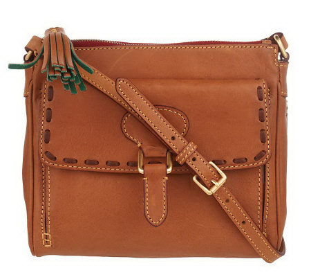Dooney Bourke Florentine Leather Flap Pocket Crossbody Bag