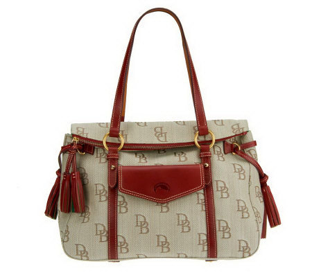 Dooney Bourke Signature Jacquard Floine Smith Bag