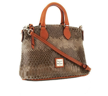 Dooney Bourke Embossed Snakeskin Leather Satchel