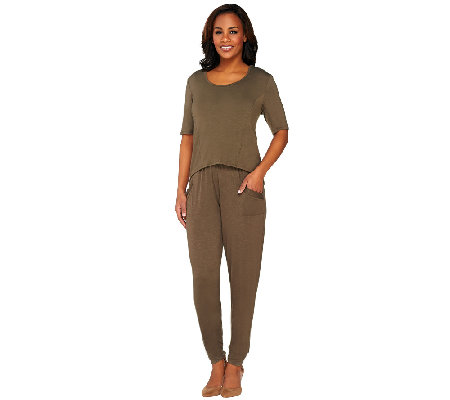 Lisa Rinna Collection Knit Jumpsuit with Removable Top