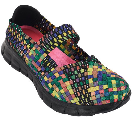 Skechers Woven Mary Janes w/ Memory Foam - Good Vibes