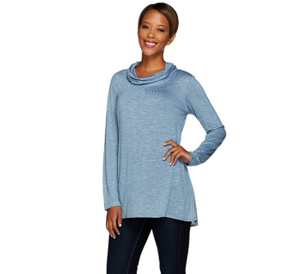 Linea by Louis Dell'Olio Cowl Neck Long Sleeve Knit Top