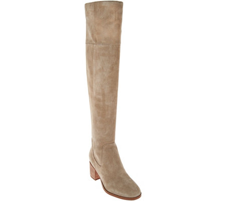 Marc Fisher Suede Over the Knee Boots - Escape