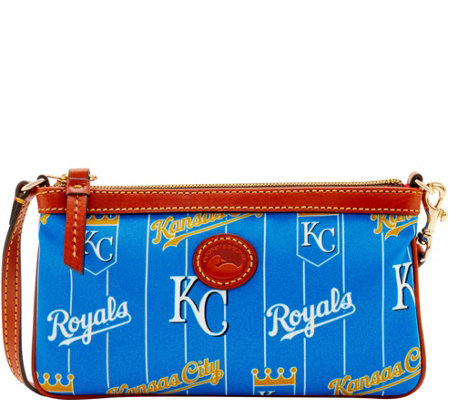 Dooney & Bourke MLB Nylon Royals Large Slim Wristlet