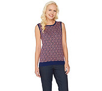 C. Wonder Lattice Jacquard Sweater Tank Top - A286432