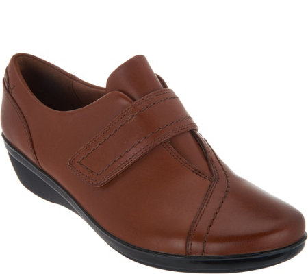 Clarks Leather Monk Strap Shoes - Everlay Dixie