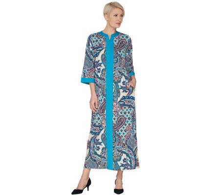 Joan Rivers Regular Length Paisley Print Jersey Lounger