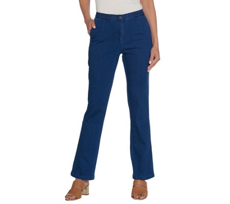Linea by Louis Dell'Olio Petite Stretch Denim Boot Leg Pants