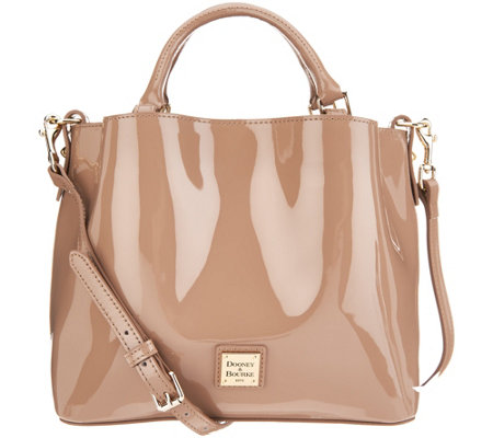 Dooney & Bourke Small Patent Leather Satchel- Brenna