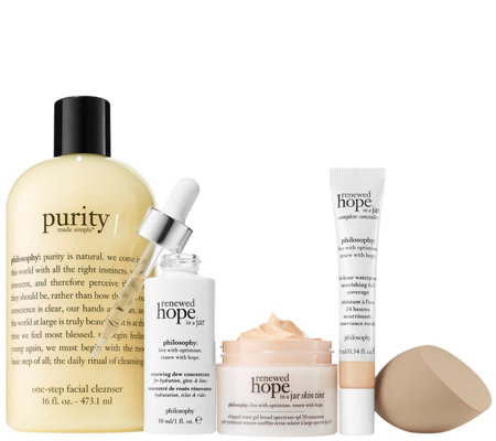 philosophy hope shines brightest 5-piece renewed skin kit