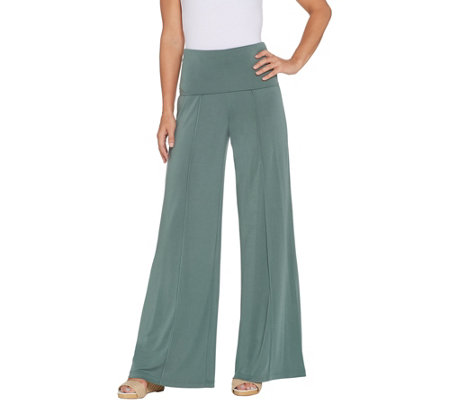 Lisa Rinna Collection Foldover Waist Wide-Leg Pant