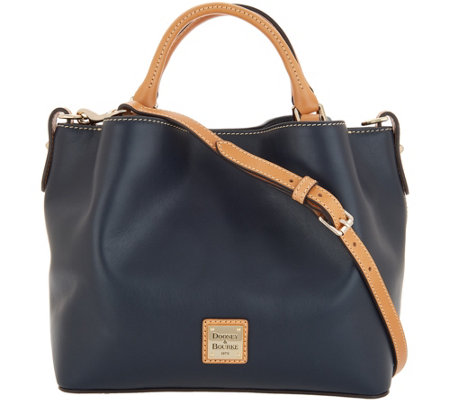 Dooney & Bourke Smooth Leather Small Brenna Satchel Handbag