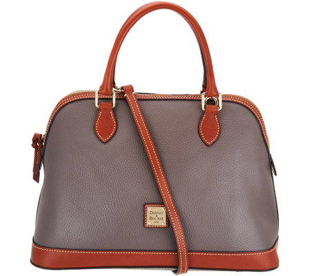 """As Is"" Dooney & Bourke Pebble Leather Deana Satchel Handbag"