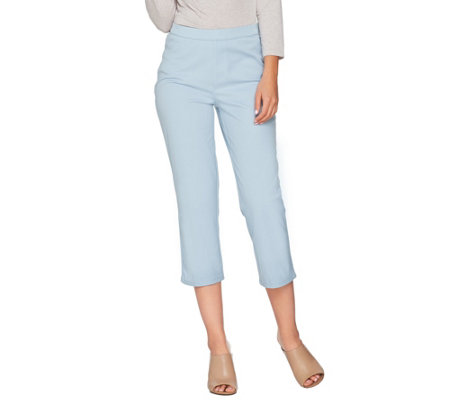 As Is H By Halston Regular Studio Stretch Pull On Crop Pants