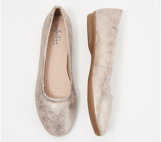 Clarks Collection Leather or Suede Flats- Gracelin Vail