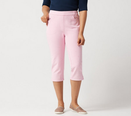 Quacker Factory DreamJeannes Sequin Capri Pants