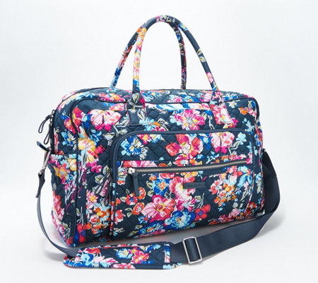 Vera Bradley Signature Iconic Weekender Travel Bag Qvc