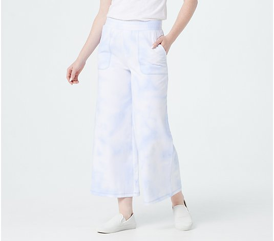 Isaac Mizrahi Live! Regular SOHO Tie Dye French Terry Culottes