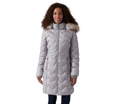 Gallery Missy Puffer Walker With Faux Fur Trimmed Hood