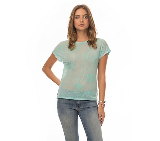 Synergy Organic Burnout Short Sleeve Top - Peyton