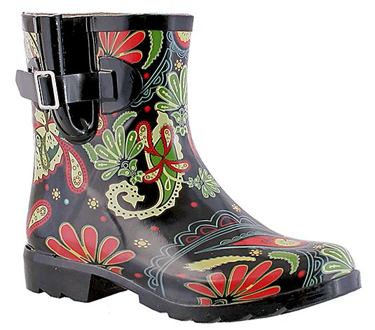 Nomad Classic Patterned Rain Booties - Dew