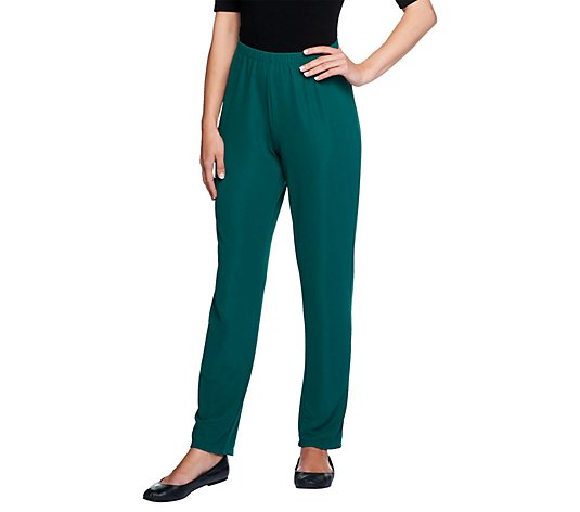 Susan Graver Essentials Lustra Knit Regular Skinny Pants