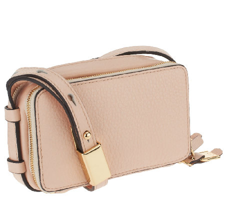 """As Is"" G.I.L.I Pebbled Leather Convertible Micro Bag"