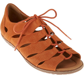 d2a3f6c627c Earth Suede Ghillie Lace-up Sandals w  Closed Heel - Plover - A274233