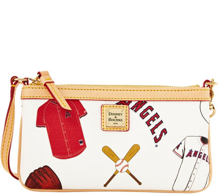 Dooney & Bourke MLB Angels Large Slim Wristlet