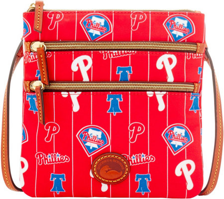 Dooney & Bourke MLB Nylon Phillies Triple Zip Crossbody