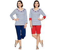 Quacker Factory Sequin Splash 3-Piece Knit Wardrobe Set - A288533