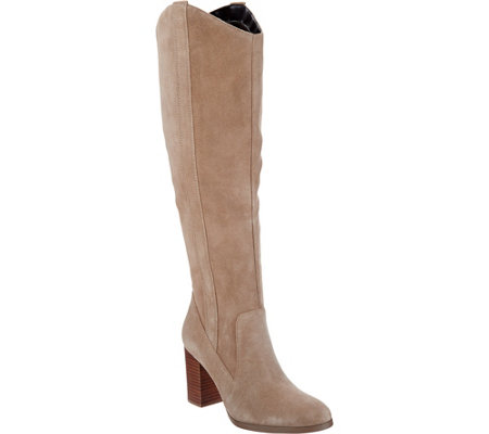 Sole Society Suede Tall Shaft Boots - Benedict