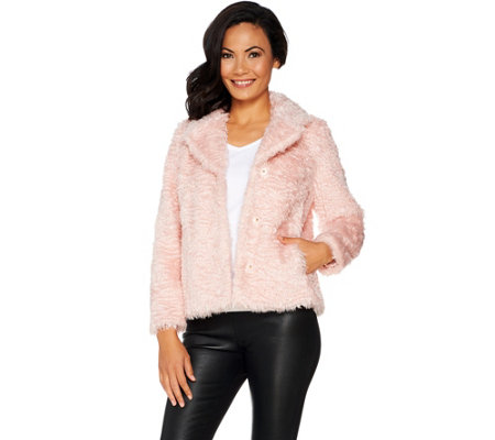 Isaac Mizrahi Live! Special Edition Faux Fur Jacket
