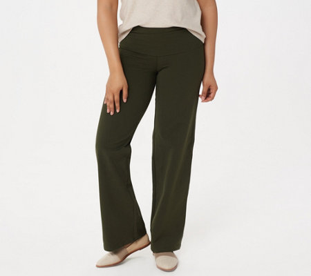 Women with Control Regular Tummy Control Wide Leg Pants