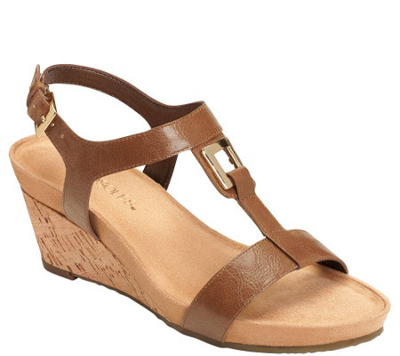 Aerosoles Wedge Sandals - Light Force