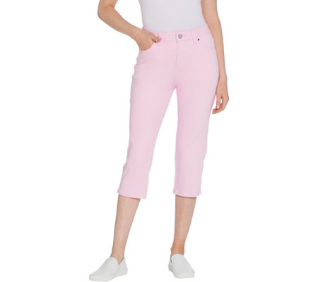 Belle by Kim Gravel Frosted Flexibelle Capri Jeans