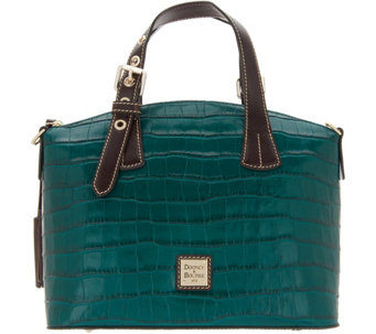 b2c4afffd Dooney & Bourke Croco Embossed Leather Trina Satchel - A343033