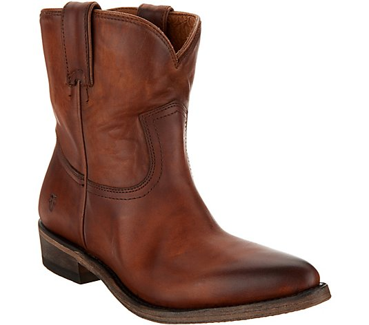 Frye Leather Pull-on Boots - Billie Short