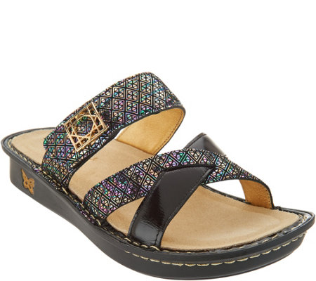Alegria Leather Multi-Strap Slide Sandals - Victoriah discount latest collections cheap sale low cost buy cheap marketable 3QKIG