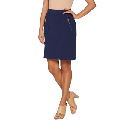 """As Is"" Belle by Kim Gravel Knit Skort with Zipper Pockets"