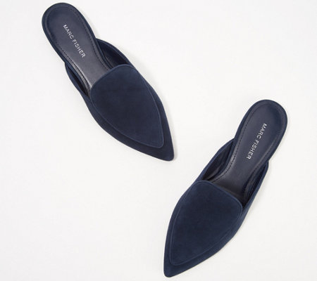 Marc Fisher Suede or Textile Mules- Ambush