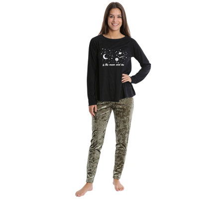 Wallflower Moon And Back Long-Sleeve Tee & Legging Pajama Set