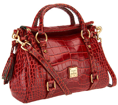 Dooney Bourke Croco Fino Leather Satchel