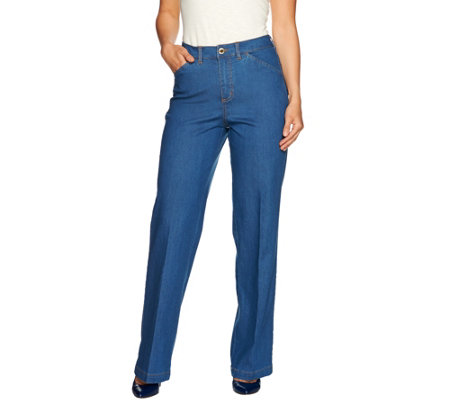 C. Wonder Petite Full Length Wide Leg Jeans