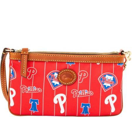 Dooney & Bourke MLB Nylon Phillies Large Slim Wristlet