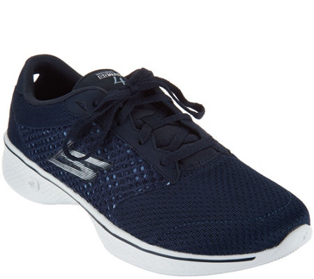 Skechers GOwalk 4 Knit Lace-up Sneakers - Exceed