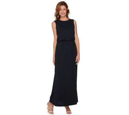 Joan Rivers Petite Length Jersey Knit Maxi Dress with Pockets