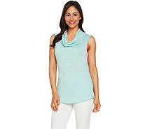 Lisa Rinna Collection Cowl Neck Sleeveless Knit Top - A290934
