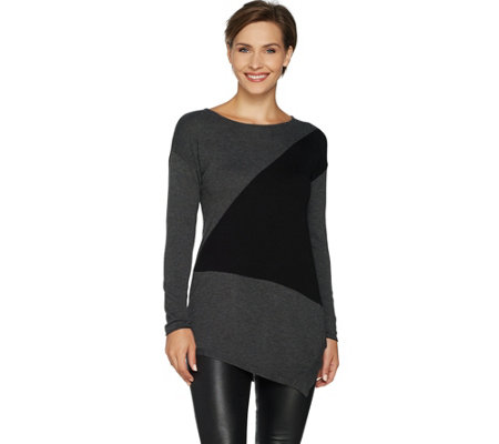 Laurie Felt Modern Color Block Sweater